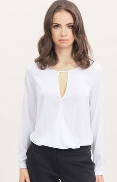 Misebla M0129 bluzka biała Elegancka bluzka damska