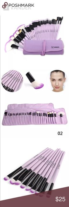 32 professional brushes makeup 100% Brand New Handle Material:Wood Brush Material:Fiber batt Package includes: 14 x The Specifications Eyeshadow Brush 6 x The Specifications Blush / Powder Brush 3 x Concealer BrushAngle 2 x Eye Liner Brush 1 x Eyebrow Brush 1 x Sponge Eye Shadow Brush 1 x Lip Liner Brush 1 x Eyebrow Comb brush 1 x Eyelash Comb brush 1 x Lip Brush 1 x Extra Brush Makeup Brushes & Tools