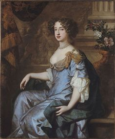 Queen Mary II, when Princess of Orange, by  Peter Lely, circa 1678-1680
