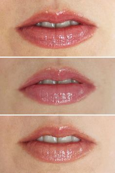 Beautycounter Lip Gloss in (from top to bottom) Peony, Dahlia and Buff. http://beautyeditor.ca/2016/08/10/best-beautycounter-products