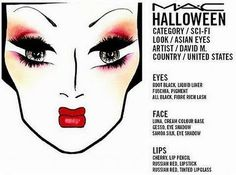 Beautynewbie.com: TONS of MAC Halloween FACE CHARTS
