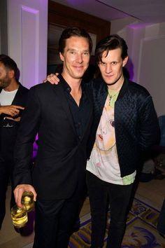 Cumberbatch and Matt Smith! #DoctorWho #Sherlock