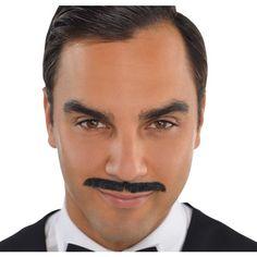 Roaring '20s Black Pencil Moustache