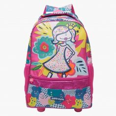 Happy House Graphic Print Trolley Backpack