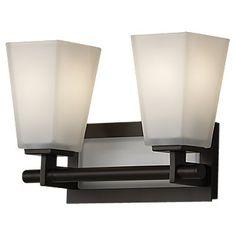 Feiss VS16602-ORB,2 - Light Vanity Fixture,Oil Rubbed Bronze