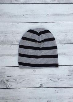 18b20f72124 Black Striped Sweater Beanie  Slouch-Beanies