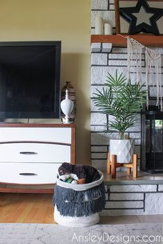 You caught me. It's really a dresser. We're all mad here!) I love dressers. I love MCM dressers. Love Seat, Wood Refinishing, Refinishing Furniture, Affordable Home Decor, Tv Stand, Vintage Furniture, Mid Century Modern Tv Stand, Modern Tv Stand, Dresser Tv Stand
