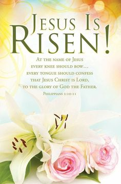 Church Bulletin - Easter - Jesus is Risen! (Pack of Jesus Is Risen Images, Wedding Bulletins, Sunday Worship, Bible Images, Philippians 2, Godly Man, Names Of Jesus, Jesus Christ, Lord