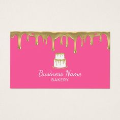 25 free pink business card templates business cards pinterest bakery pastry chef gold cake logo sweet pink business card colourmoves