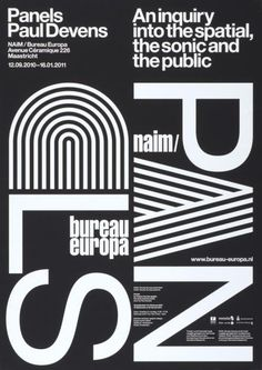 Panels Paul Devens - An inquiry into the spatial, the sonic and the public - NAIM/Bureau Europa Maastricht-Plakat