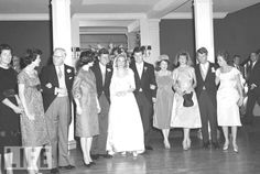 A playful Jack and Bobby fight over dancing with their new sister-in-law, though none contest the Kennedy patriarch Joe when his turn comes about. Ever united, the proud Kennedy clan stand for the camera hIS Wedding ... . November 29, 1958,  ❤♥♥❤♥❤♥❤♥♥❤     http://en.wikipedia.org/wiki/Ted_Kennedy