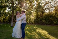 Bride and groom first dance in Hotel gardens as sun sets behind foliage in the background Wedding Ties, Blue Wedding, Summer Wedding, Hotel Wedding Receptions, Wedding Ceremony, Wedding First Dance, Sun Sets, Wedding Breakfast, Father Of The Bride