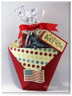 Diaper fold treat pouch. Would be great to make with valentine theme.