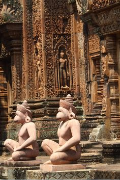This century Banteay Srei temple which is commonly referred to as the 'jewel of Khmer art' is situated in Angkor and was part of the ancient capitals of Angkor Thom and Yasodharapura. Siem Reap, Angkor Wat, Temples, Cambodia, Statues, Mystery, Club, Adventure, World