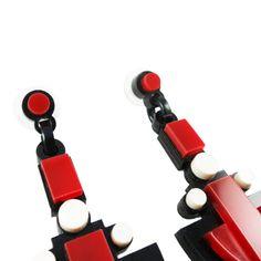 Deco Red rectangle earrings | $40 | #UnderOurSky Deco, Earrings, Design, Ear Rings, Stud Earrings, Ear Piercings, Decor, Deko