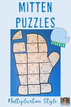 These Multiplication Mitten Puzzles are great for winter math centers, review, early and fast finishers, enrichment, GATE, and critical thinking skills. Any student that needs a lesson in perseverance will benefit from these puzzles. With this fun game format your students will stay engaged while practicing necessary skills! Use them in your third or fourth grade classroom all December & January! Low prep - just print, cut, and go! Print on cardstock for LONG lasting fun! 3rd & 4th Grade $