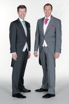 Slim Fitting Grey Morning Suits for today's fashion conscious Groom