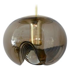 Anonymous;Brass and Blown Glass Ceiling Light by Koch and Lowy, 1950s.