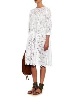 Queene and Belle Lucca broderie-anglaise cotton dress