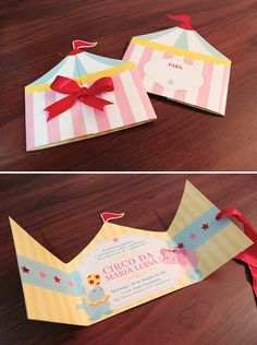 Love this Big Top Tent style party invitation