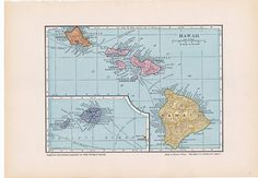 old map of Hawaii from the 1930's.