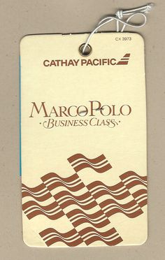 Cathay Pacific - Marco Polo Business Class Bag Tag