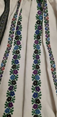 Cross Stitch Borders, Floral Tie, Costumes, Embroidery, Sewing, Knitting, Crafts, Fashion, Fashion For Girls