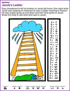Jacob's Ladder (Coded Puzzle) - Kids Korner - BibleWise