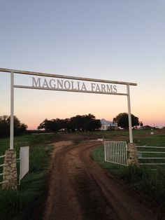 Joanna Gaines's Blog | HGTV Fixer Upper | Magnolia Homes Have sign over entrance to farm or large property