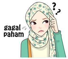 Buat chat kamu lebih asyik dengan Hijab Gaul Stiker :D Cartoon Jokes, Cute Cartoon, Funny Jokes, Emoji People, Hijab Drawing, Islamic Cartoon, Powerpoint Design Templates, Anime Muslim, Hijab Cartoon