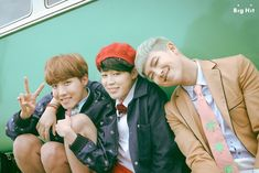 BTS Young Forever Concept Photo Photoshoot J-Hope, Jimin, and Rap Monster