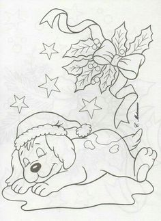 Puppy Coloring Pages, Fall Coloring Pages, Coloring Books, Christmas Ornament Template, Christmas Templates, Christmas Colors, Christmas Art, Xmas, Christmas Coloring Sheets