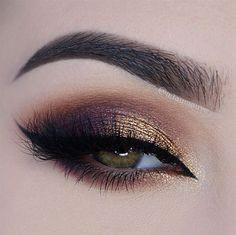 gold and plum smokey eye ~ we ❤ this! moncheribridals.com #smokeyeyemakeup