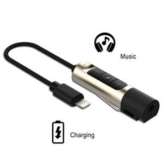 Baile Lightning to 3.5mm Headphone Jack Adapter with Volume Control for iPhone 7 / 7 Plus (7.1 inch)