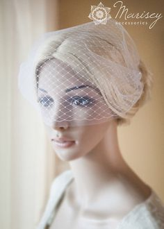 Hey, I found this really awesome Etsy listing at https://www.etsy.com/listing/150258512/birdcage-veil-bridal-double-blusher