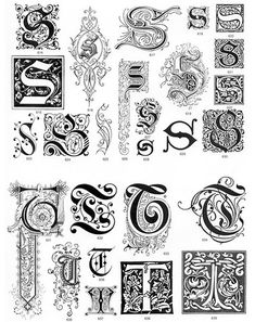 Welcome to Dover Publications Ornate Letters and Initials CD-ROM and Book Chicano Lettering, Tattoo Lettering Fonts, Graffiti Lettering, Lettering Styles, Caligraphy Alphabet, Hand Lettering Alphabet, Penmanship, Calligraphy Drawing, Calligraphy Text