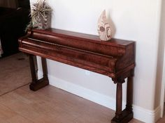 Top 10 Ideas for repurposed piano projects - DIY Booster Decor, Wood, Repurposed Furniture, Recycled Furniture, Diy Furniture, Piano Crafts, Painted Furniture, Piano Decor, Repurposed Items