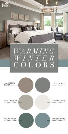 Warm your home this winter with coordinated colors. Find the perfect neutral or bold accent using the West Elm Collection from Sherwin-Williams. | Pulte Homes