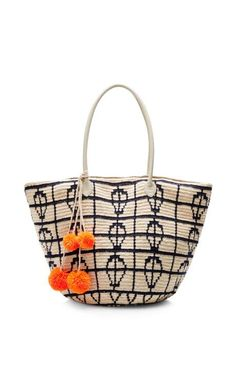 Oona Graphic Handwoven Tote by Sophie Anderson Now Available on Moda Operandi