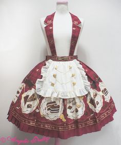 Antique Chocolaterie Skirt - Wine