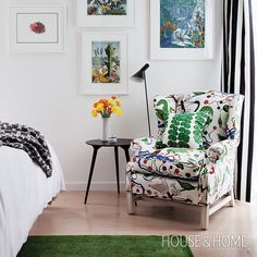 We love this Scandi-inspired reading nook! [Photo: Donna Griffith | Design: Jill Greaves] #Padgram