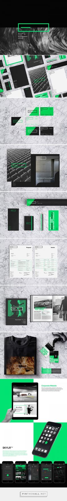 SKYLER Event Management Agency Branding by Samet K. | Fivestar Branding Agency – Design and Branding Agency & Curated Inspiration Gallery
