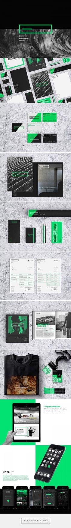 SKYLER Event Management Agency Branding by Samet K. | Fivestar Branding Agency – Design and Branding Agency & Curated Inspiration Gallery