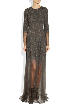 THEYSKENS' THEORY Embellished mesh gown