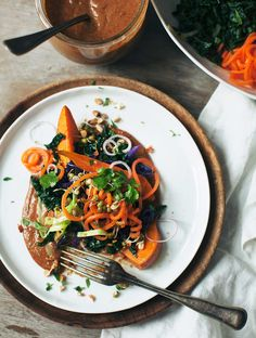 Balinese Gado Gado - Cabbage, Kale, SweetPotato, Carrots, Bean Sprouts, Almonds