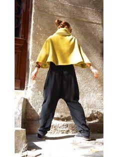 Wool Mustard Bolero A08505  #bolero #mustard #Aakasha #asymmetric #elegant #extravagant #stylish #romantic