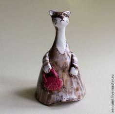 """Колокольчик в форме стилизованной кошки """"Матильда"""""""