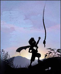 Superman en su infancia por Andy Fairhurst