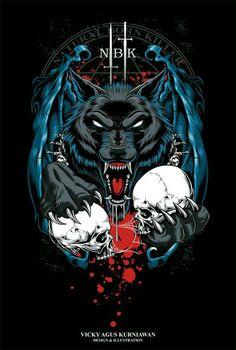 Natural Born Killer on Behance Abstract Iphone Wallpaper, Lion Wallpaper, Skull Wallpaper, Arte Horror, Horror Art, Panda Background, Aztecas Art, Tribal Wolf Tattoo, Beautiful Dark Art