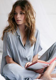 Silver Silk Pyjamas
